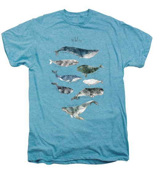Whales Men's Premium T-Shirt by Amy Hamilton