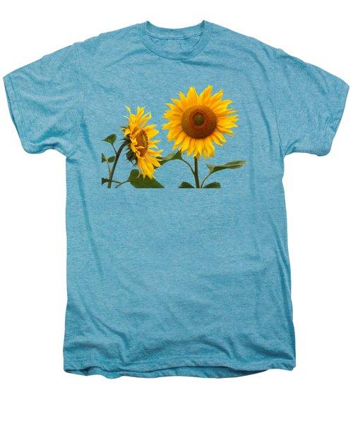 Whispering Secrets Sunflowers On White Men's Premium T-Shirt