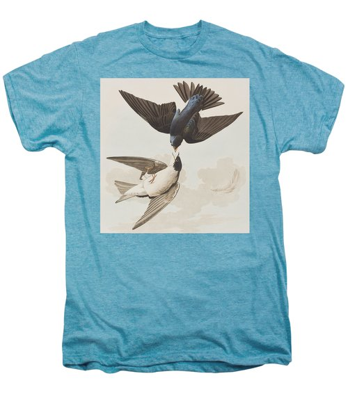 White-bellied Swallow Men's Premium T-Shirt by John James Audubon