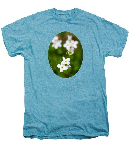 White Cuckoo Flowers Men's Premium T-Shirt by Christina Rollo