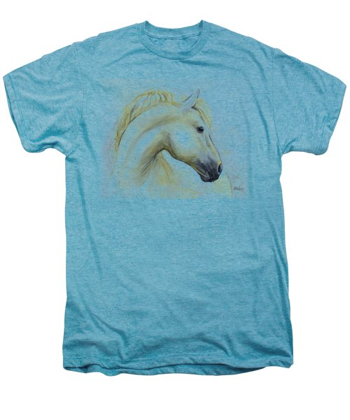 White Horse Watercolor Men's Premium T-Shirt