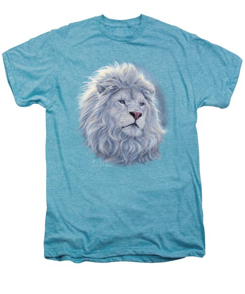 White Lion Men's Premium T-Shirt by Lucie Bilodeau