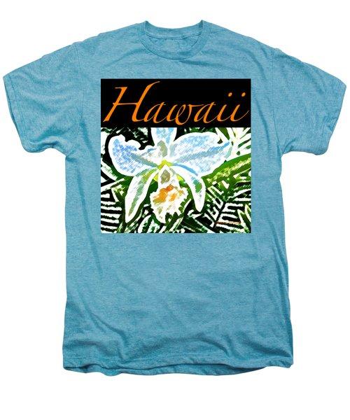 White Orchid T-shirt Men's Premium T-Shirt by James Temple