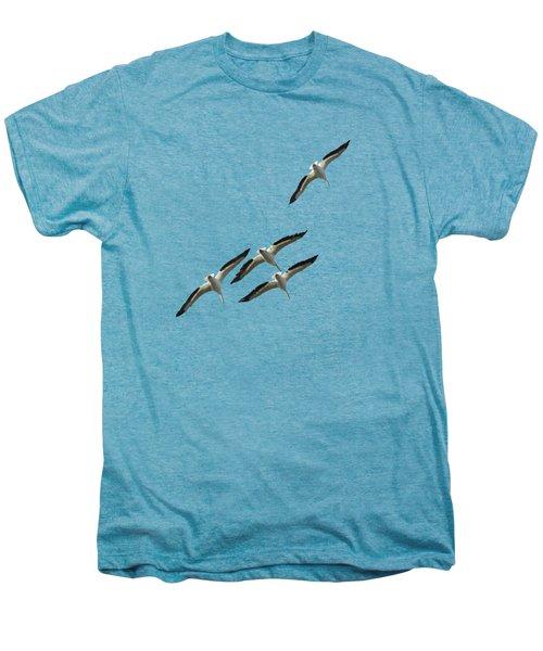 White Pelicans Transparency Men's Premium T-Shirt
