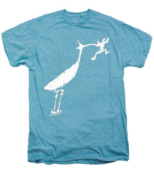 White Petroglyph Men's Premium T-Shirt by Melany Sarafis