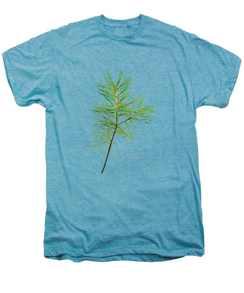 Men's Premium T-Shirt featuring the mixed media White Pine by Christina Rollo