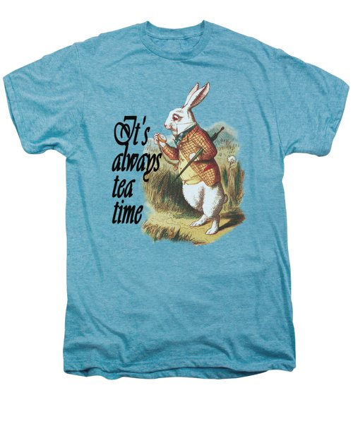 White Rabbit Alice In Wonderland Vintage Art Men's Premium T-Shirt