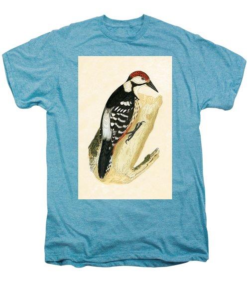 White Rumped Woodpecker Men's Premium T-Shirt by English School