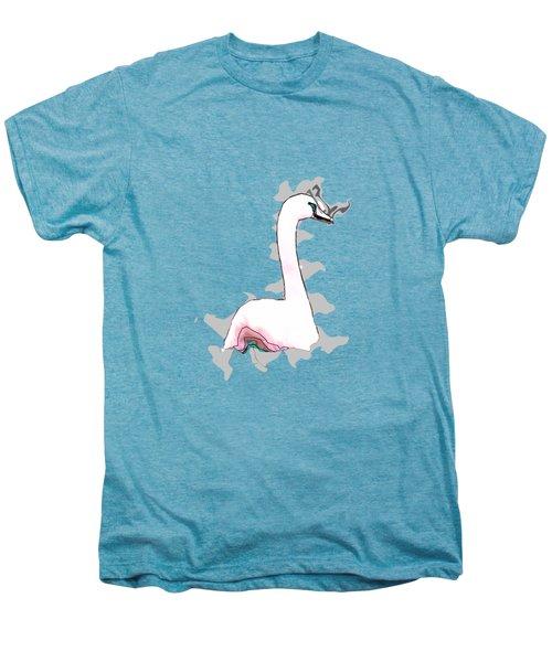 White Swan Swimming  Men's Premium T-Shirt by Humorous Quotes