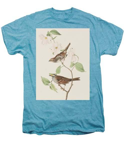 White Throated Sparrow Men's Premium T-Shirt by John James Audubon