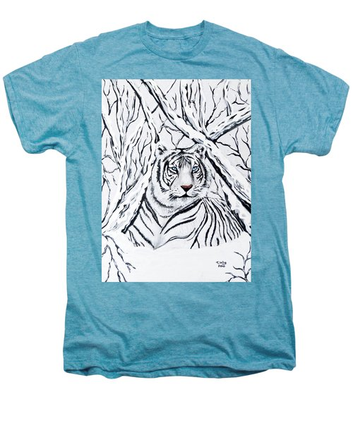 White Tiger Blending In Men's Premium T-Shirt