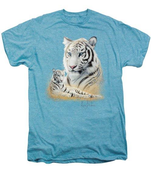 White Tiger Men's Premium T-Shirt by Lucie Bilodeau