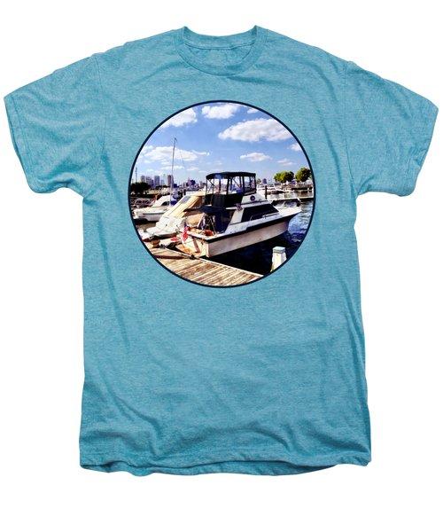 Wiggins Park Marina Men's Premium T-Shirt by Susan Savad