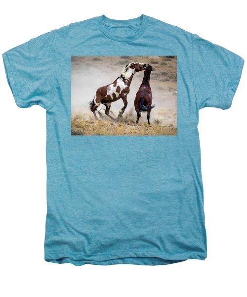 Wild Stallion Battle - Picasso And Dragon Men's Premium T-Shirt