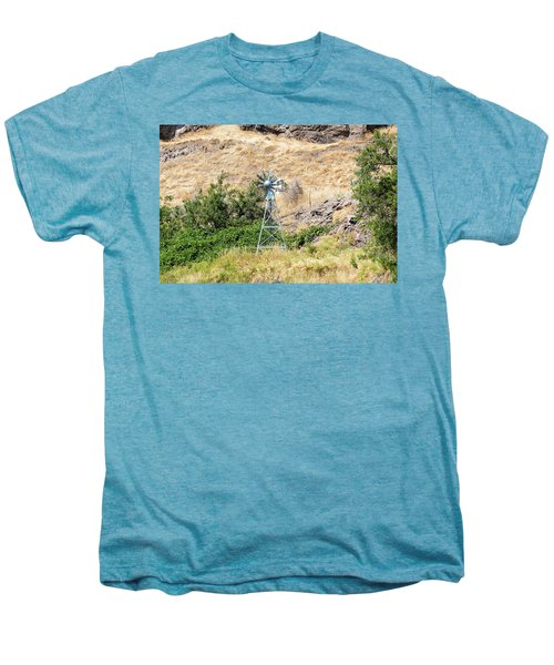 Windmill Aerator For Ponds And Lakes Men's Premium T-Shirt