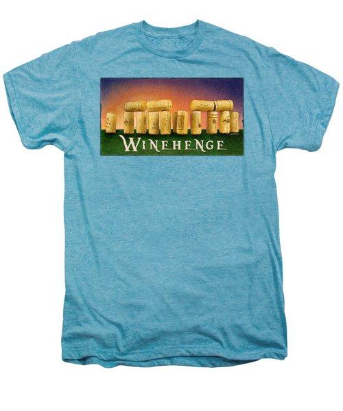 Winehenge Men's Premium T-Shirt by Will Bullas