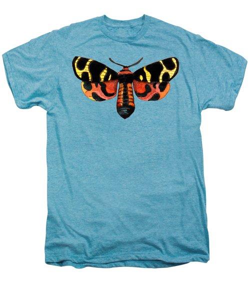 Winged Jewels 5, Watercolor Moth Black Yellow Orange And Red Tropical Men's Premium T-Shirt