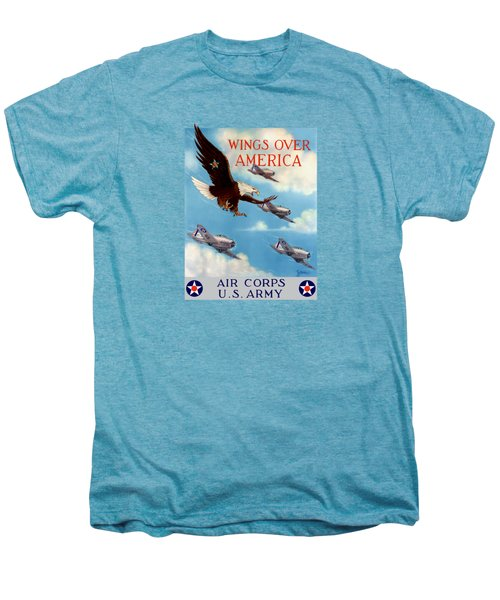 Wings Over America - Air Corps U.s. Army Men's Premium T-Shirt by War Is Hell Store
