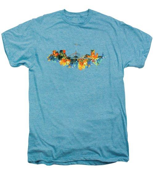 Winnipeg Skyline Men's Premium T-Shirt by Marian Voicu