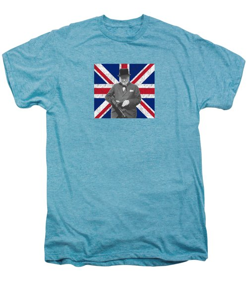 Winston Churchill And His Flag Men's Premium T-Shirt by War Is Hell Store