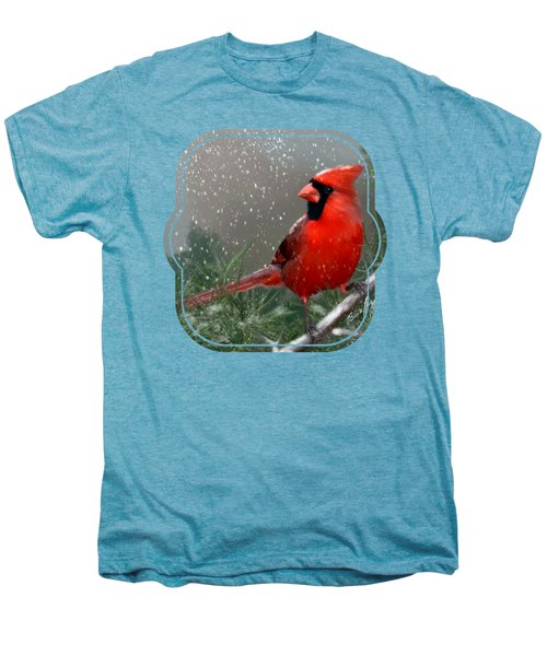 Winter Cardinal Men's Premium T-Shirt