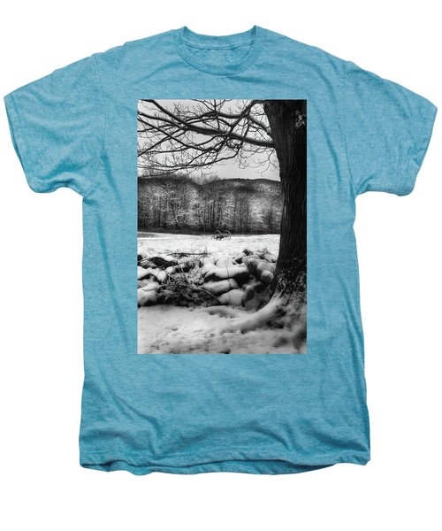 Men's Premium T-Shirt featuring the photograph Winter Dreary by Bill Wakeley