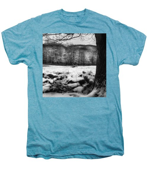 Men's Premium T-Shirt featuring the photograph Winter Dreary Square by Bill Wakeley