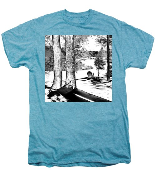 Men's Premium T-Shirt featuring the photograph Winter Shadows by David Patterson