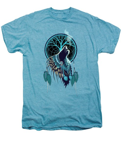 Wolf Indian Shaman Men's Premium T-Shirt