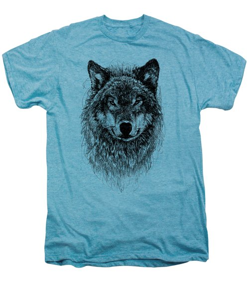 Wolf Men's Premium T-Shirt by Michael Volpicelli