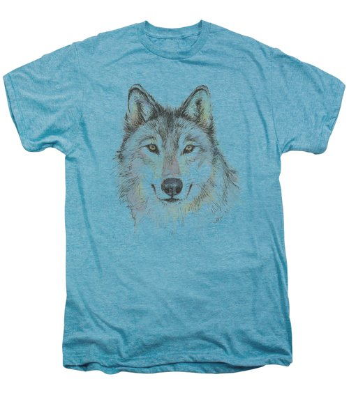 Wolf Men's Premium T-Shirt by Olga Shvartsur