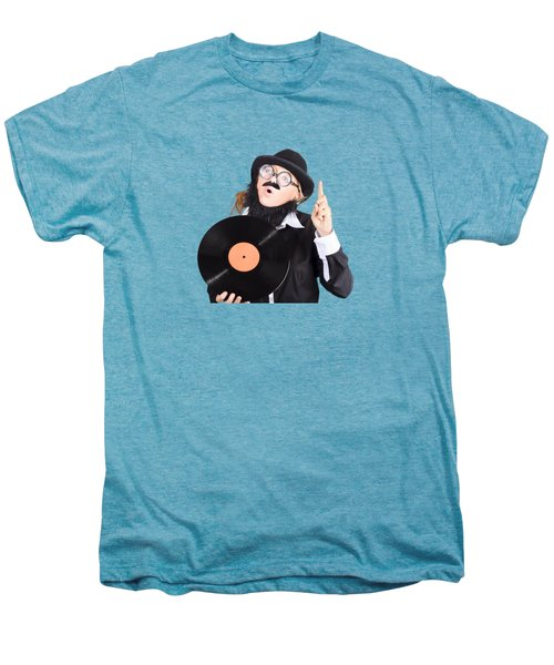 Men's Premium T-Shirt featuring the photograph Woman Disc Jockey by Jorgo Photography - Wall Art Gallery