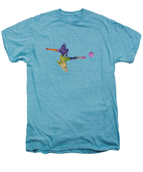 Woman Soccer Player 04 In Watercolor Men's Premium T-Shirt