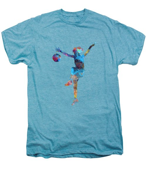 Woman Soccer Player 12 In Watercolor Men's Premium T-Shirt