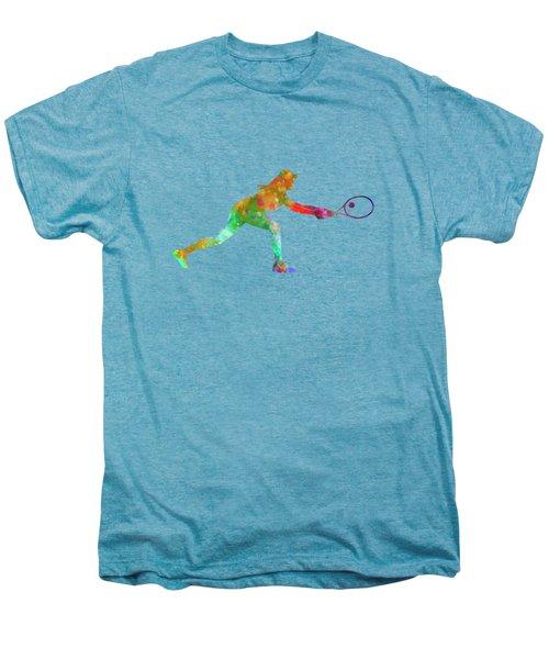 Woman Tennis Player Sadness 02 In Watercolor Men's Premium T-Shirt