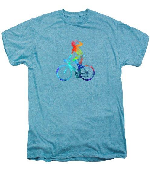 Woman Triathlon Cycling 03 Men's Premium T-Shirt