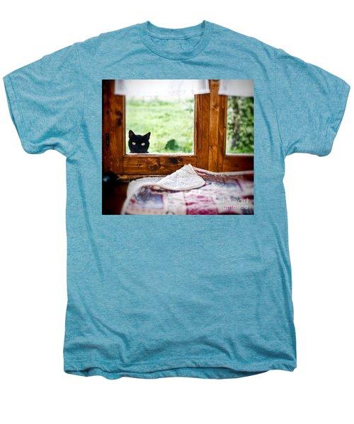 Wondering What's She... Better Investigate Men's Premium T-Shirt