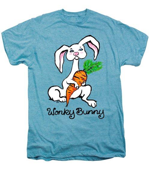 Wonky Bunny Carrot Men's Premium T-Shirt by Katherine Nutt