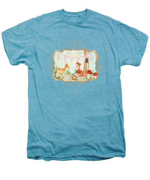 Woodland Fairytale - Banner Sweet Little Baby Men's Premium T-Shirt by Audrey Jeanne Roberts