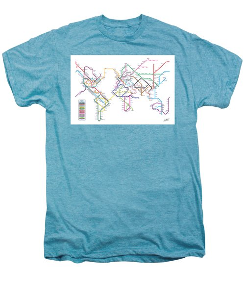 World Metro Tube Subway Map Men's Premium T-Shirt