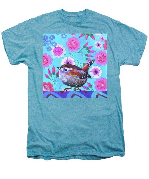 Wren Men's Premium T-Shirt by Jane Tattersfield