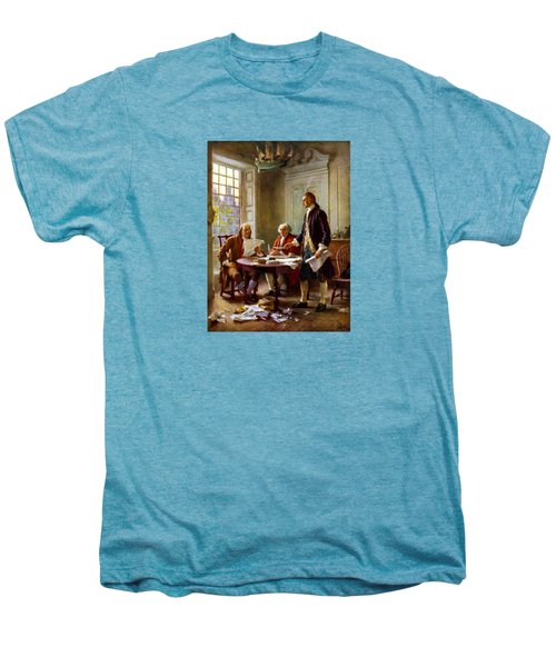 Writing The Declaration Of Independence Men's Premium T-Shirt by War Is Hell Store