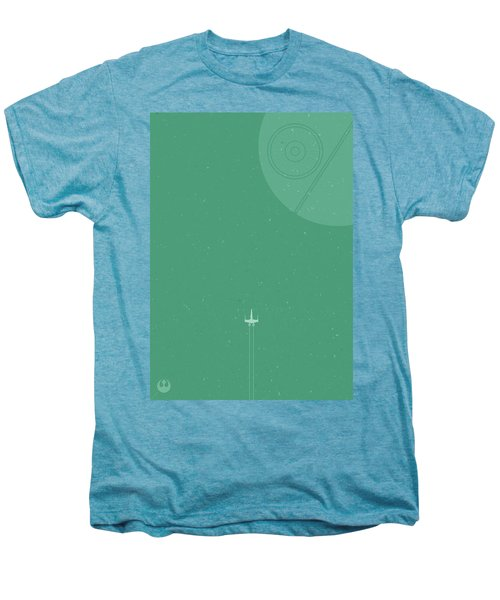 X-wing Meets Death Star Men's Premium T-Shirt