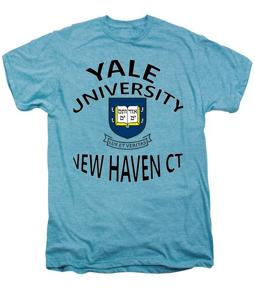 Yale University New Haven Connecticut  Men's Premium T-Shirt by Movie Poster Prints