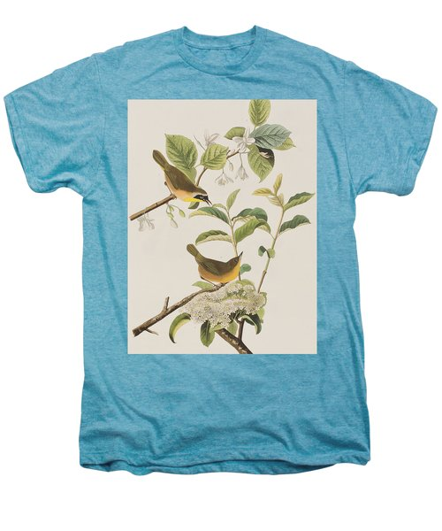 Yellow-breasted Warbler Men's Premium T-Shirt by John James Audubon