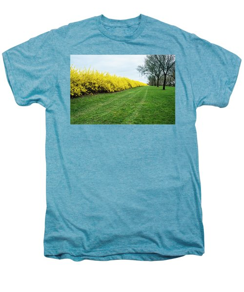 Yellow Flowers Men's Premium T-Shirt