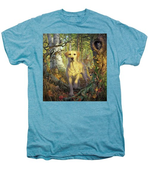 Yellow Lab In Fall Men's Premium T-Shirt