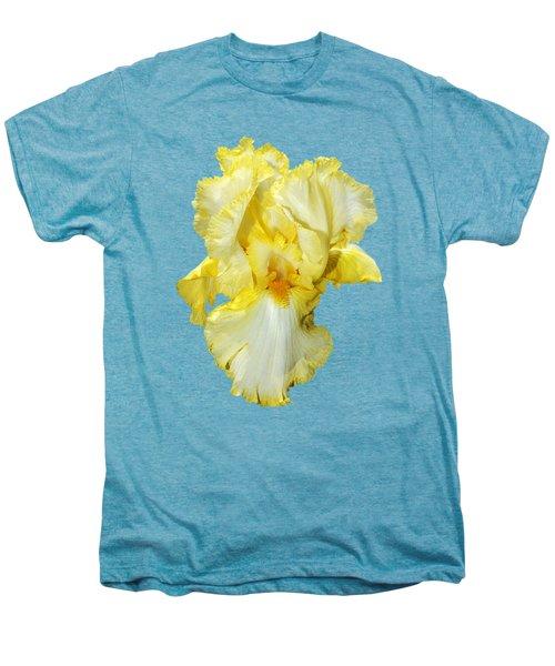 Yellow Mist Iris Men's Premium T-Shirt by Phyllis Denton