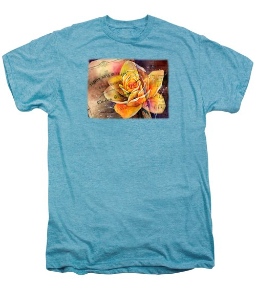 Yellow Rose Of Texas Men's Premium T-Shirt by Hailey E Herrera