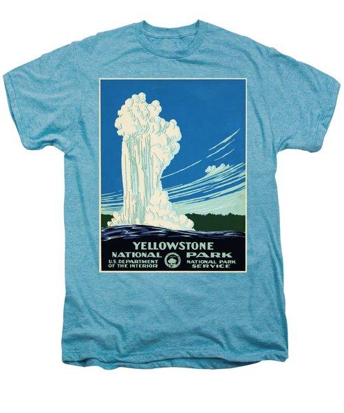 Yellow Stone Park - Vintage Travel Poster Men's Premium T-Shirt by Ipa
